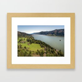 Columbia River Gorge Washington Framed Art Print