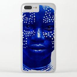 Face with Dots - Ethiopia Clear iPhone Case