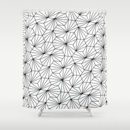 Hexagonal texture Shower Curtain