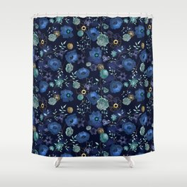 Cindy large floral print Shower Curtain