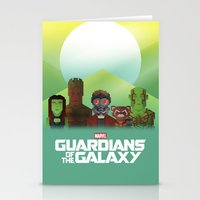 guardians of the galaxy Stationery Cards featuring Guardians of the Galaxy by Casa del Kables