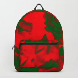 Deep Red Damask Rose Backpack