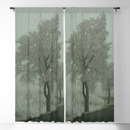 Winter Landscape - Austria Blackout Curtain