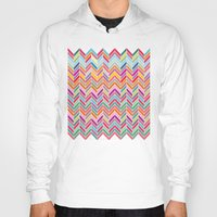 chevron Hoodies featuring Chevron by Aftab
