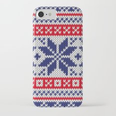 Winter knitted pattern 7 iPhone 7 Slim Case
