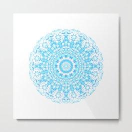 Mandala 12 / 2 eden spirit light blue turquoise Metal Print