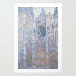 Monet, Rouen Cathedral Series, west facede (La Cathédrale de Rouen) Art Print