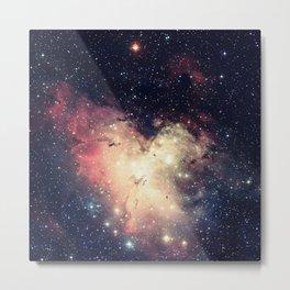Deep Pastels Galaxy Space Sparkle Metal Print