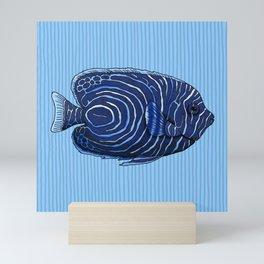 Juvenile Emperor Angelfish Mini Art Print