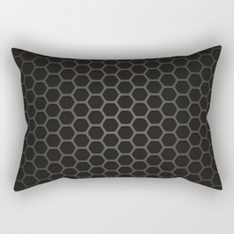 Industrial Black Pentagon Honeycomb Geometric Pattern Rectangular Pillow