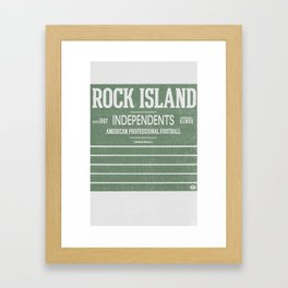 Rock Island Independents Framed Art Print