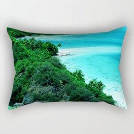 Tahiti Motu (Island) in French Polynesia Rectangular Pillow