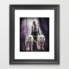 SheWolf Framed Art Print