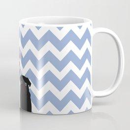 Chevron Pug Coffee Mug