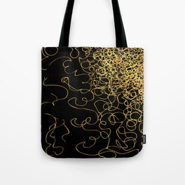 swirly gold gradient Tote Bag