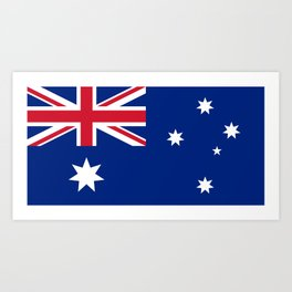 The National flag of Australia, authentic version (color & scale 1:2) Art Print