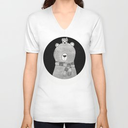 A great big bear Unisex V-Neck
