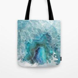 Blue Aqua Agate Tote Bag