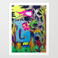 We Came to Conquer Art Print