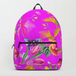 Bold Summer Print on Magenta Pink Backpack