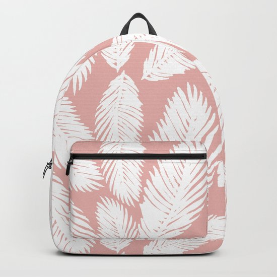 Pink Tropical Leaf Pattern by julieerindesigns
