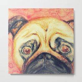 Grunt The Pug Metal Print