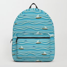 Sailing pattern 1c Backpack