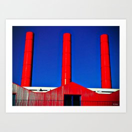 The Red Factory Art Print