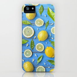 Fruits and leaves pattern (32) iPhone Case