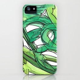Nature's Lever Modern Watercolor Painting iPhone Case
