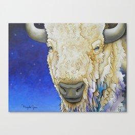 Untitled White Buffalo Canvas Print