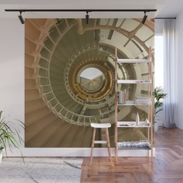 Gray's Harbor Lighthouse Stairwell Spiral Architecture Washington Nautical Coastal Wall Mural