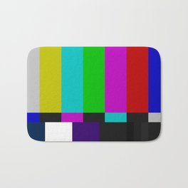 SMPTE Color Bars (as seen on TV) Bath Mat