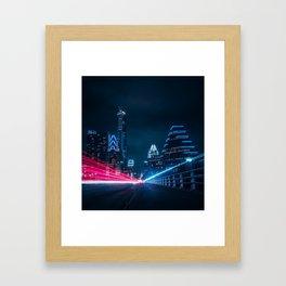 Congress Avenue Bridge Framed Art Print