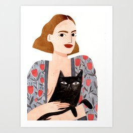 Anne et Margot Art Print