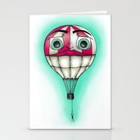 baloon Stationery Cards featuring Acrophobia Baloon by Tayler Kiiim