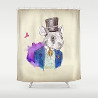 hamster Shower Curtains featuring hamster by Amit Shimoni