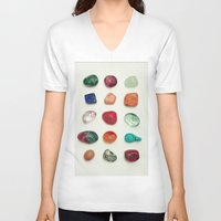 crystal V-neck T-shirts featuring crystal by Michal