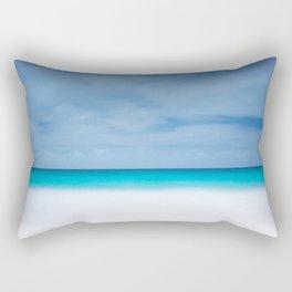 Tropical paradise beach turquoise sea ocean nature travel hipster Caribbean Fiji horizon photograph Rectangular Pillow