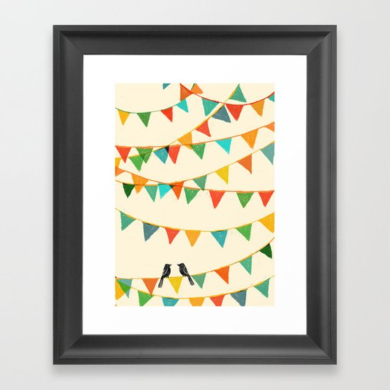 Carnival is coming to town Framed Art Print