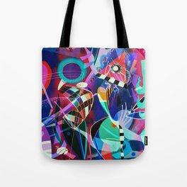 Night life, Wassily Kandinsky inspired geometric abstract art Tote Bag