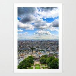 Paris From The Sacre Coure Art Print