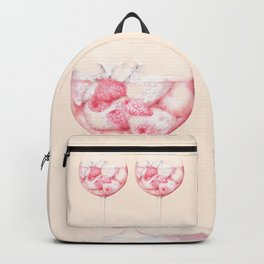 Pink Gin Watercolour Backpack