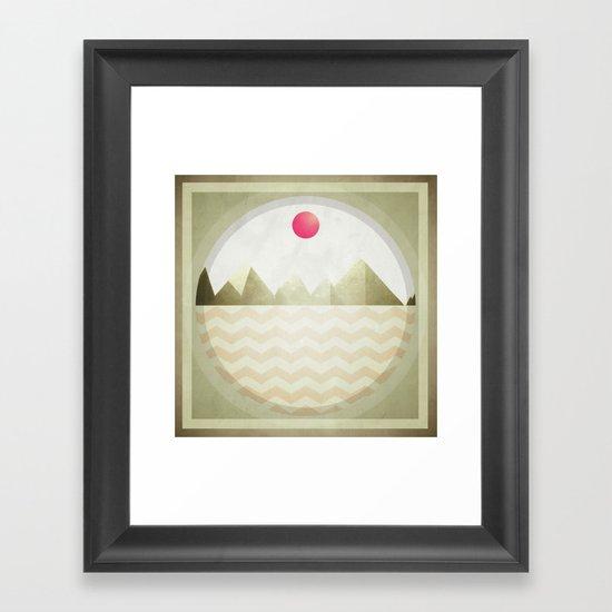 Pinked Sands Framed Art Print