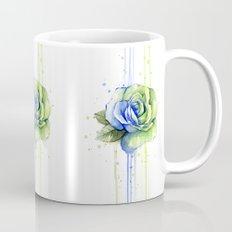 Flower Rose Watercolor Painting 12th Man Art Mug