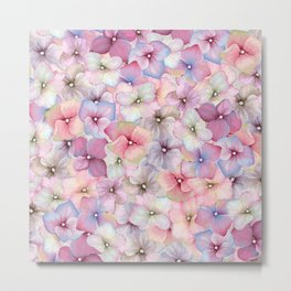 Pastel Floral Pattern Metal Print