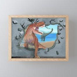 Prehistoric Dinosaur Tyrannosaurus Enters the 21st Century Framed Mini Art Print