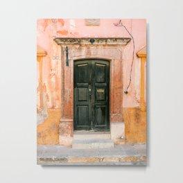 San Miguel de Allende | The door collection | Mexico pastel travel photography Metal Print