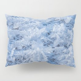 Snowflakes on Ice // Frosty Frozen Morning Pillow Sham