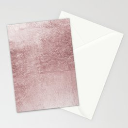 Modern elegant rose pink abstract pattern Stationery Cards